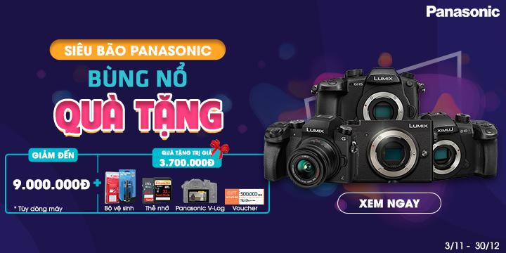 Máy ảnh Panasonic bùng nổ quà tặng