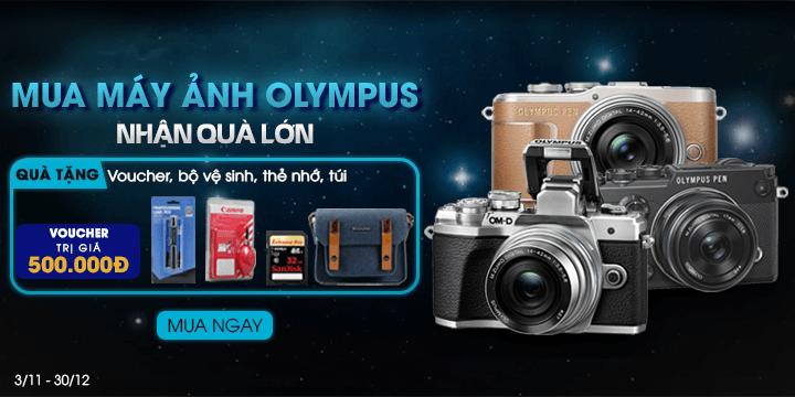 Máy ảnh Olympus nhận quà khủng